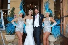 Vegas-Showgirls-wedding-blue-silver