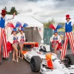 Event Dancers UK American themed show girls and stilt walkers for hire